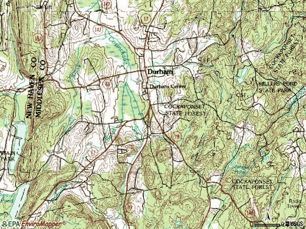 Zip code 06422 topographic map