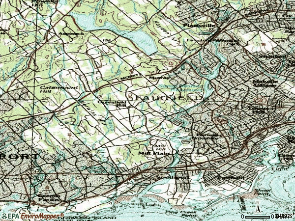 Zip code 06430 topographic map