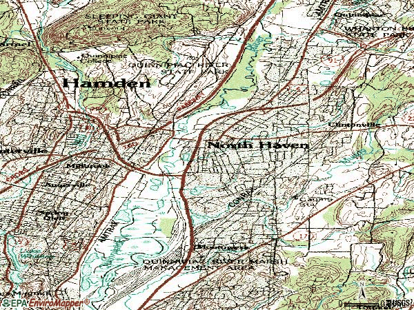 Zip code 06473 topographic map