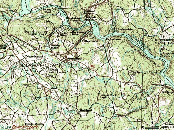 Zip code 06482 topographic map