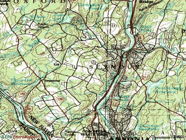 Zip code 06483 topographic map