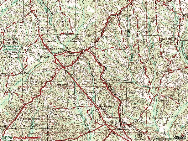 Zip code 36311 topographic map