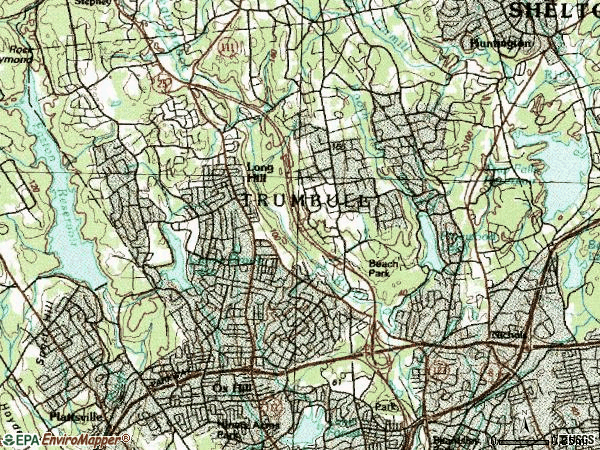 Zip code 06611 topographic map
