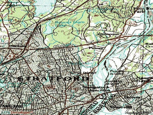 Zip code 06614 topographic map