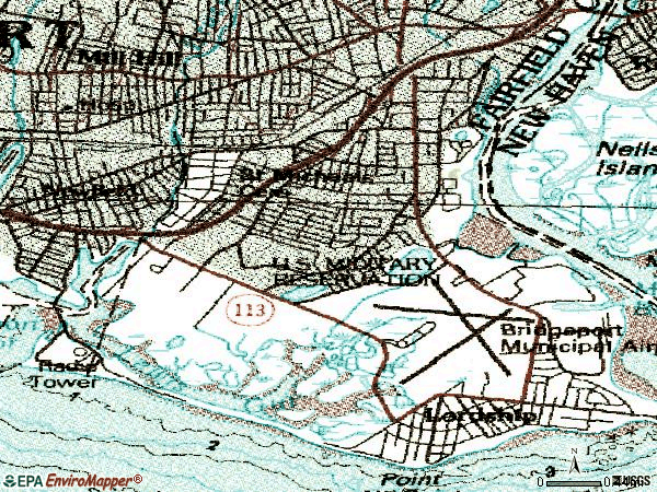 Zip code 06615 topographic map