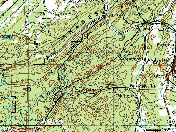 Zip code 35080 topographic map