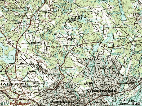 Zip code 06831 topographic map