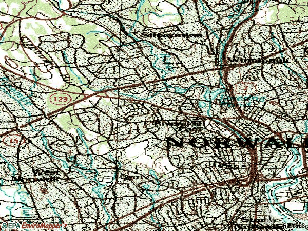 Zip code 06850 topographic map