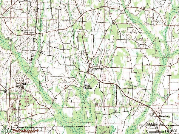 Zip code 36320 topographic map