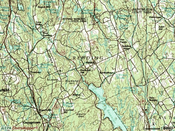 Zip code 06896 topographic map