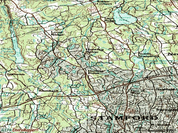 Zip code 06903 topographic map