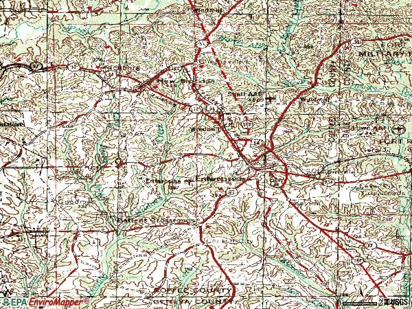 Zip code 36330 topographic map