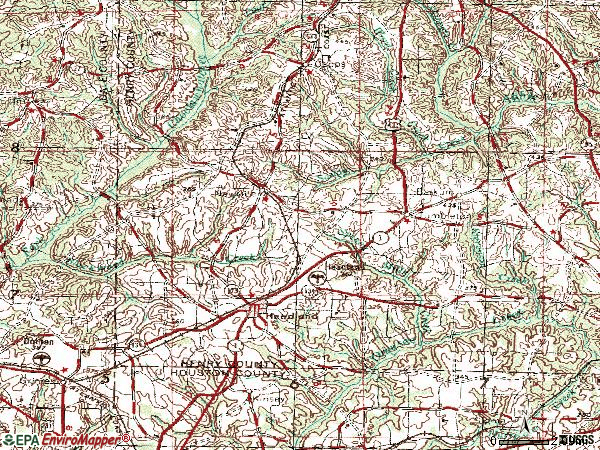 Zip code 36345 topographic map