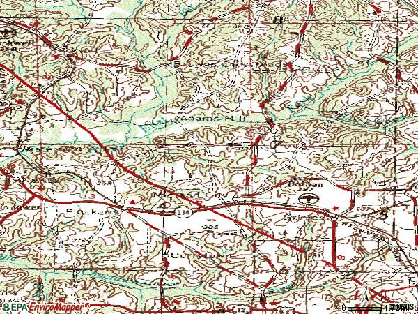 Zip code 36350 topographic map