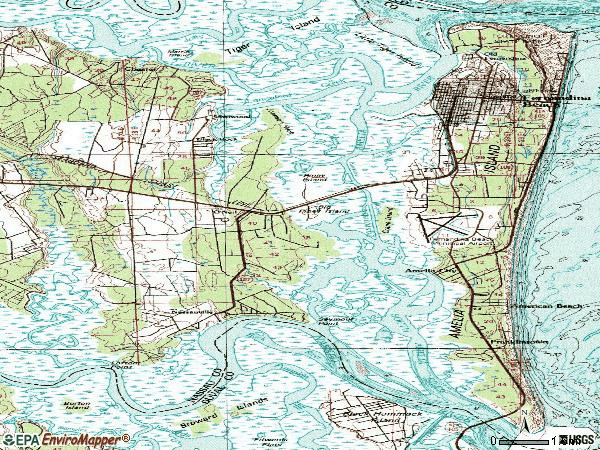 Zip code 32034 topographic map