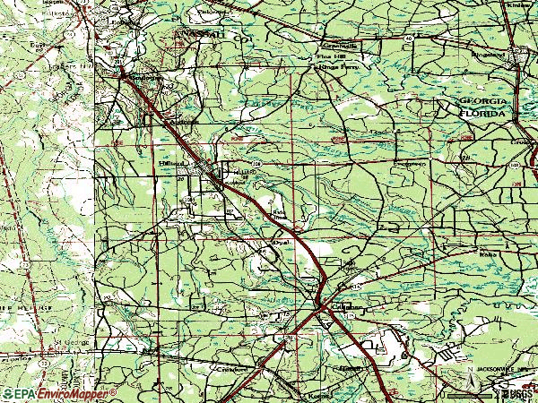 Zip code 32046 topographic map