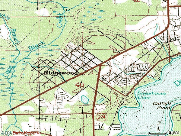 Zip code 32065 topographic map