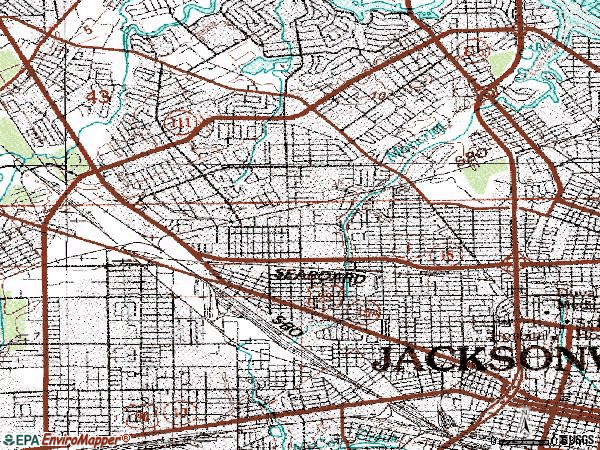 Zip code 32209 topographic map