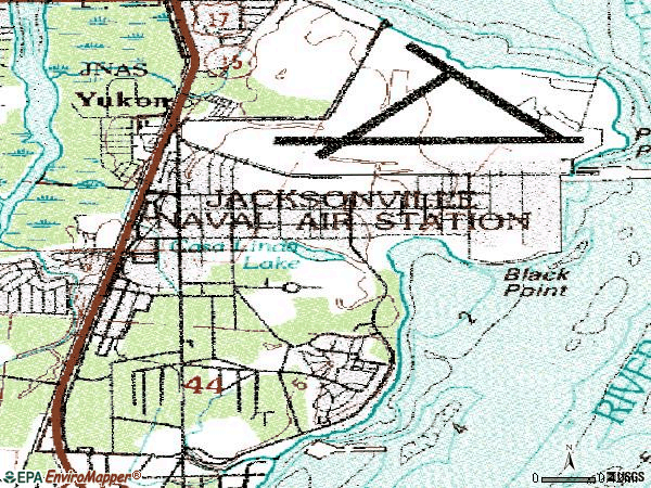 Zip code 32212 topographic map