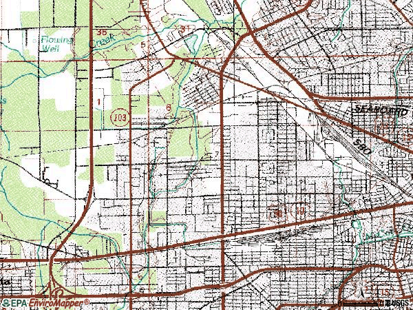 Zip code 32254 topographic map