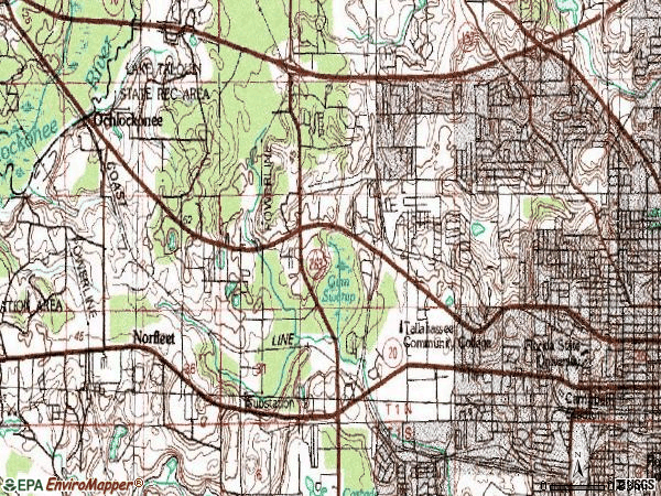 Zip code 32304 topographic map