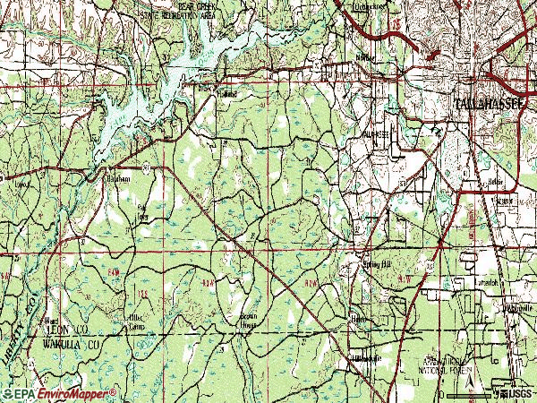 Zip code 32310 topographic map