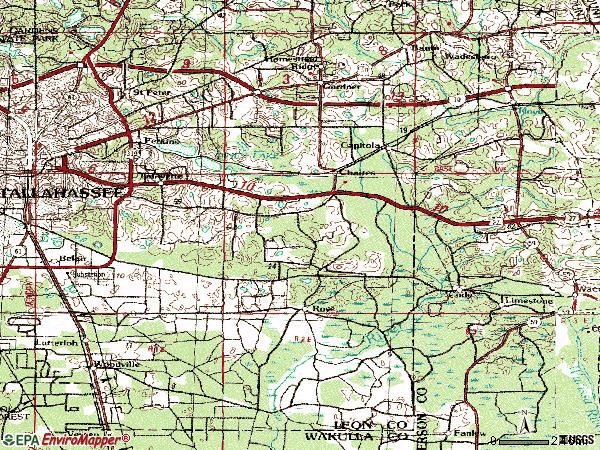 Zip code 32311 topographic map