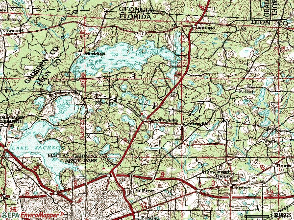 Zip code 32312 topographic map