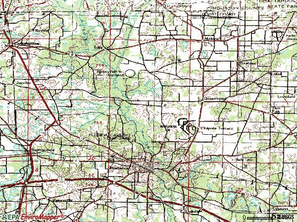Zip code 32446 topographic map