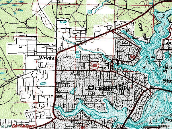 Zip code 32547 topographic map