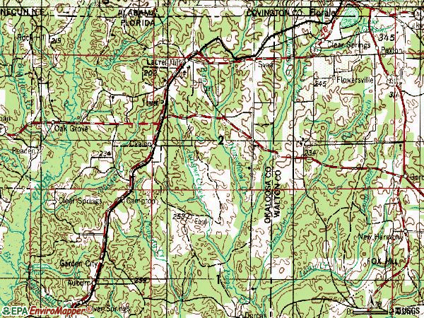 Zip code 32567 topographic map