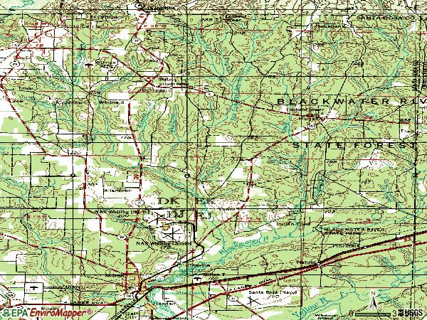 Zip code 32570 topographic map