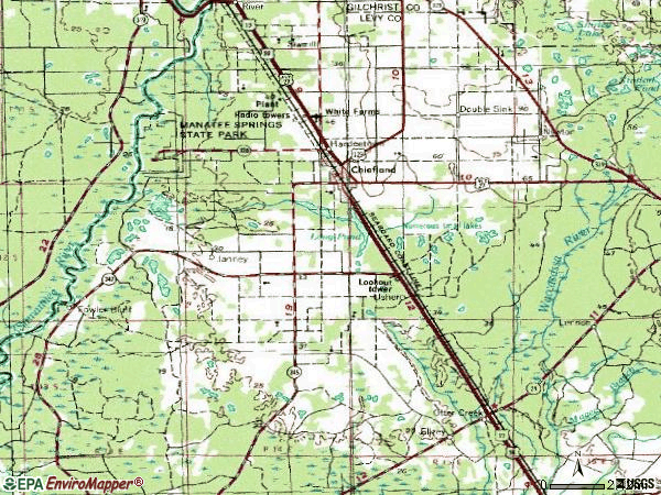 Zip code 32626 topographic map