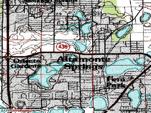 Zip code 32701 topographic map