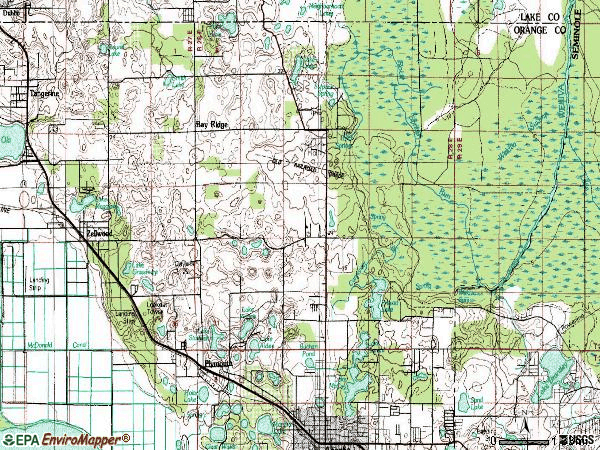 Zip code 32712 topographic map