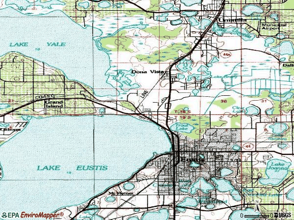 Zip code 32726 topographic map