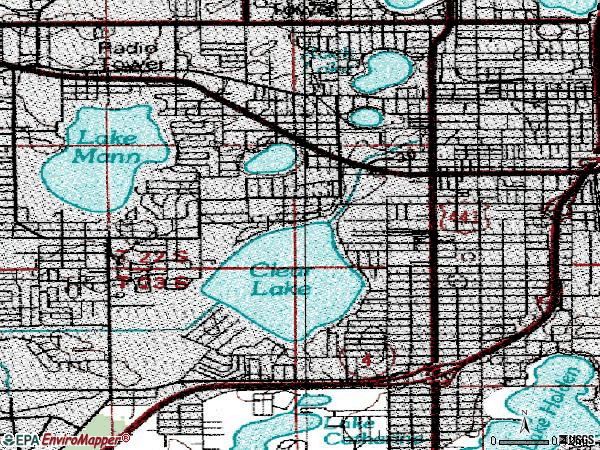 Zip code 32805 topographic map