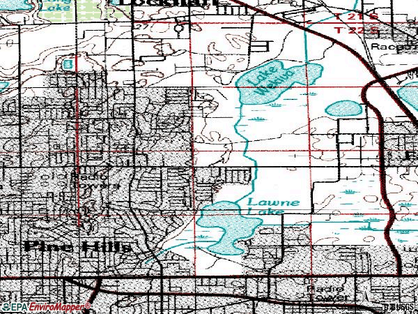 Zip code 32808 topographic map