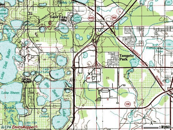 Zip code 32819 topographic map