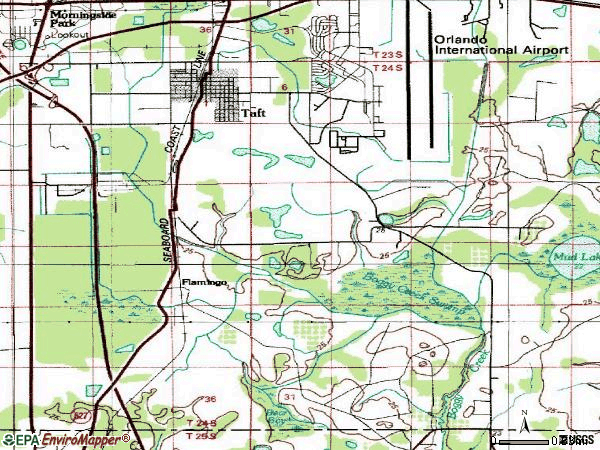 Zip code 32824 topographic map