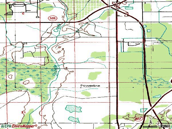 Zip code 32837 topographic map