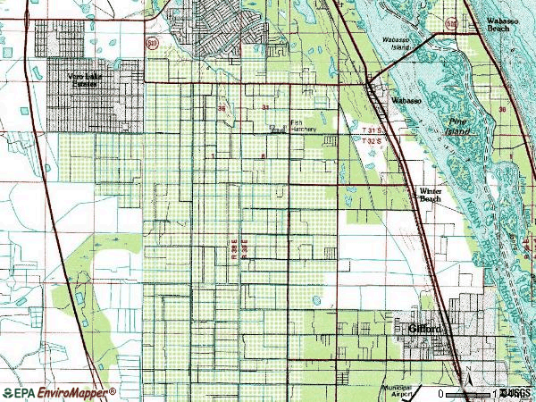 Zip code 32967 topographic map
