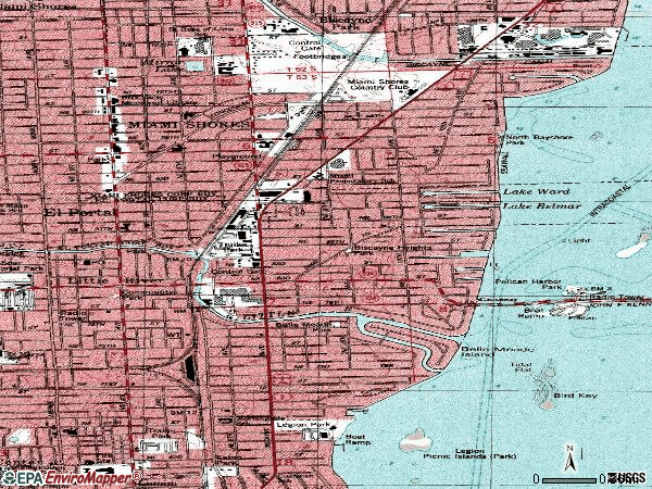 Zip code 33138 topographic map