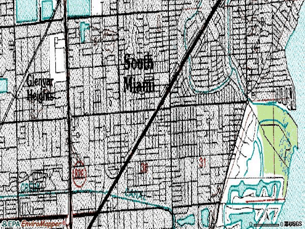 Zip code 33143 topographic map