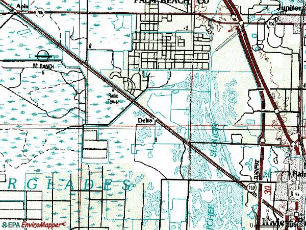 Zip code 33418 topographic map