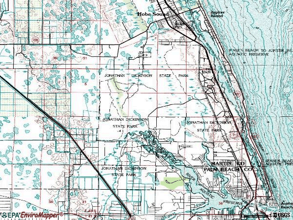 Zip code 33469 topographic map