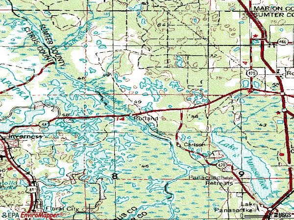 Zip code 33538 topographic map