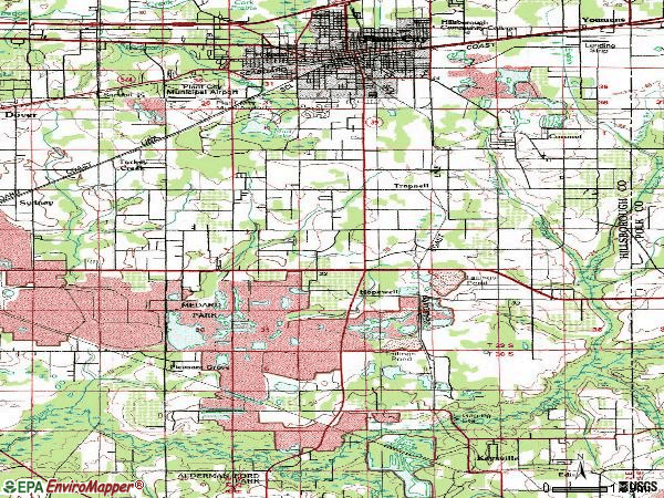 Zip code 33567 topographic map