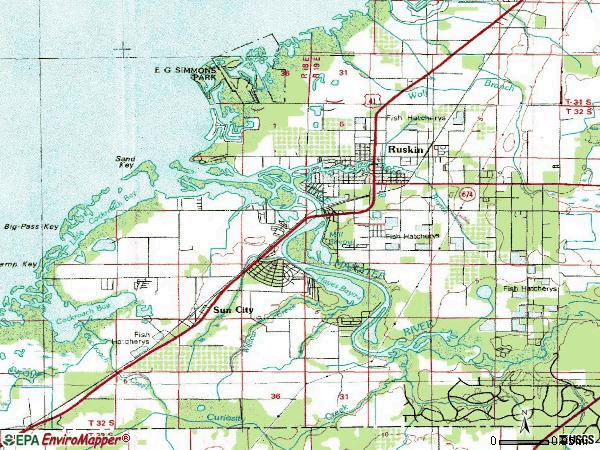 Zip code 33570 topographic map