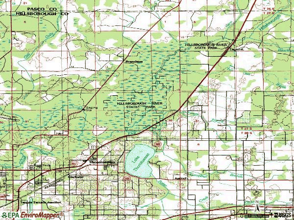 Zip code 33592 topographic map